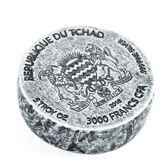 Republic of Chad King hace 5 Oz 999 plata Silver finamente plata 2016 3000 francos 2